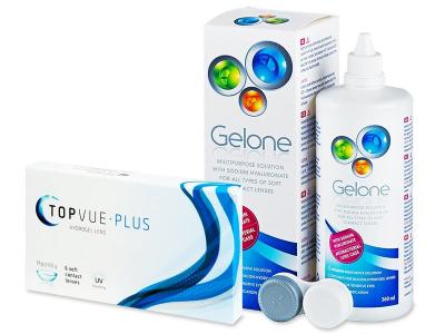 TopVue Monthly Plus (6 лещи) + Разтвор Gelone 360 мл - По-старт дизайн