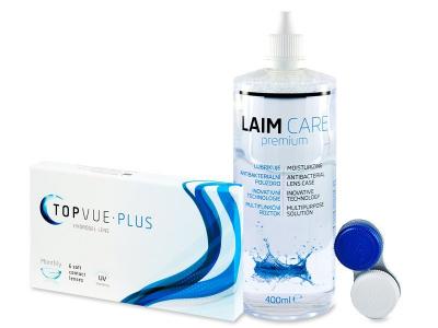 TopVue Monthly Plus (6 лещи) + Разтвор LAIM-CARE 400 мл - По-старт дизайн
