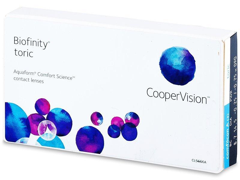Торични лещи - Biofinity Toric (3лещи)