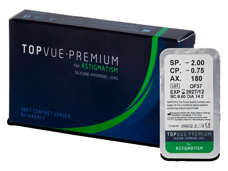 TopVue Premium for Astigmatism (1 леща) - Торични лещи