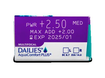 Dailies AquaComfort Plus Multifocal (90лещи) - Преглед на параметри