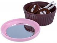 Контейнерчета за съхранение - Комплект за съхранение с огледало - Розов Мъфин