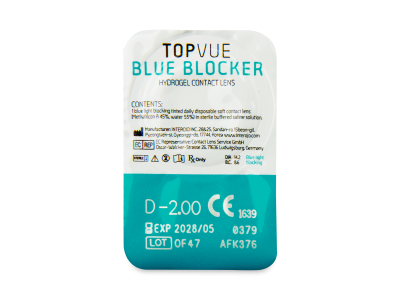 TopVue Blue Blocker (30 лещи) - Преглед на блистер