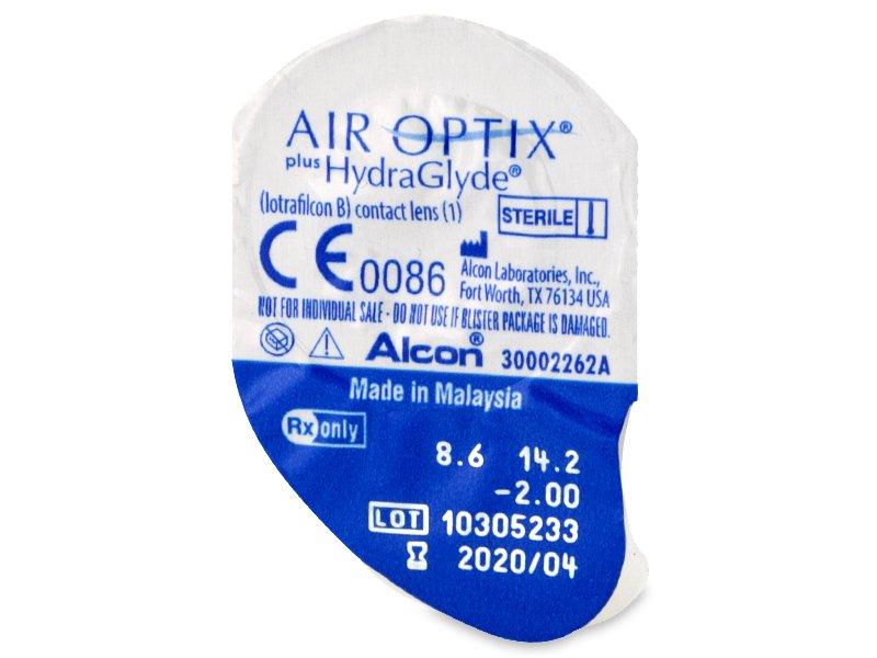 Air Optix plus HydraGlyde (6 лещи) - Преглед на блистер