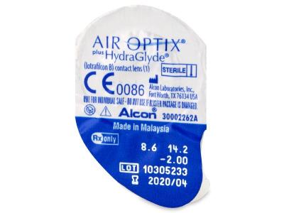 Air Optix plus HydraGlyde (3 лещи) - Преглед на блистер
