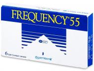 Евтини месечни контактни лещи онлайн - Frequency 55 (6лещи)