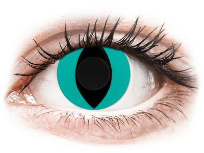 CRAZY LENS - Cat Eye Aqua - дневни без диоптър (2 лещи)