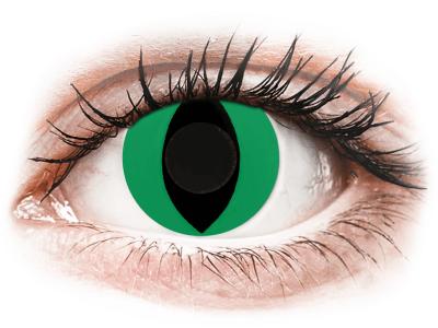 CRAZY LENS - Cat Eye Green - дневни без диоптър (2 лещи)