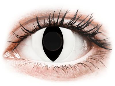 CRAZY LENS - Cat Eye White - дневни без диоптър (2 лещи)