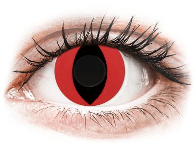 CRAZY LENS - Cat Eye Red - дневни без диоптър (2 лещи)