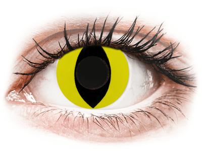 CRAZY LENS - Cat Eye Yellow - дневни без диоптър (2 лещи)