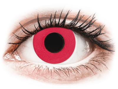 CRAZY LENS - Solid Red - дневни с диоптър (2 лещи)