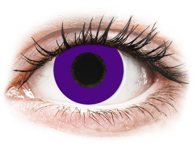 CRAZY LENS - Solid Violet - дневни с диоптър (2 лещи)