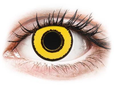 CRAZY LENS - Yellow Twilight - дневни с диоптър (2 лещи)