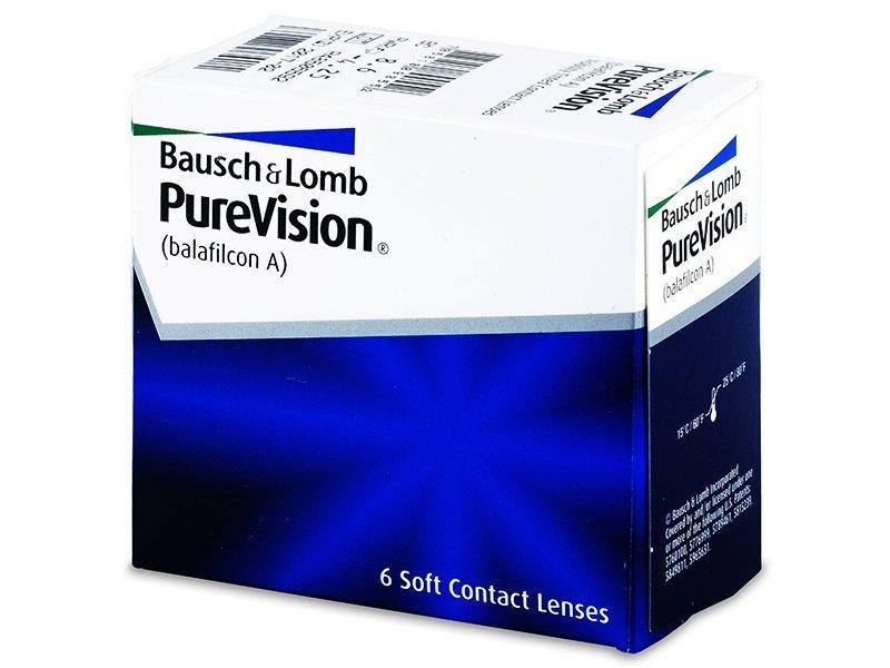 PureVision (6лещи) - Месечни контактни лещи