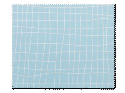 Почистваща кърпа за очила - неправилна светлосиня решетка