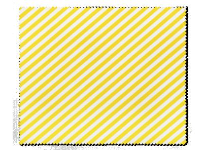 Почистваща кърпа за очила - жълти ивици