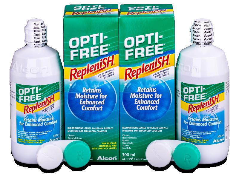 Разтвор OPTI-FREE RepleniSH 2x300ml  - Economy duo pack- solution