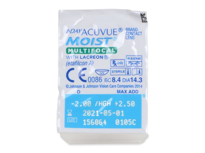 1 Day Acuvue Moist Multifocal (30 лещи) - Blister pack preview