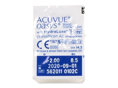 Acuvue Oasys 1-Day (90 лещи) - Преглед на блистер
