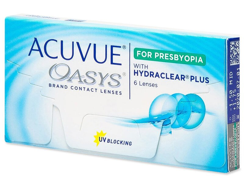 Acuvue Oasys for Presbyopia (6 лещи) - Мултифокални лещи