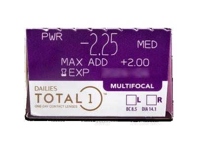 Dailies TOTAL1 Multifocal (30 лещи) - Преглед на параметри