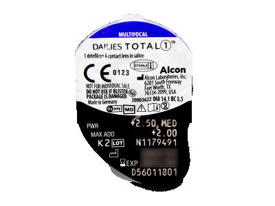 Dailies TOTAL1 Multifocal (30 лещи) - Преглед на блистер