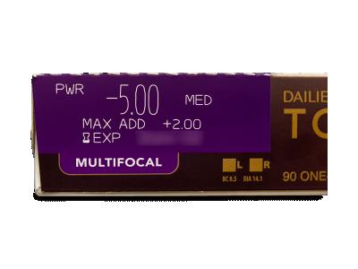 Dailies TOTAL1 Multifocal (90 лещи) - Преглед на параметри