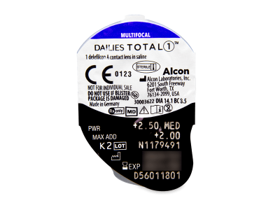 Dailies TOTAL1 Multifocal (90 лещи) - Преглед на блистер
