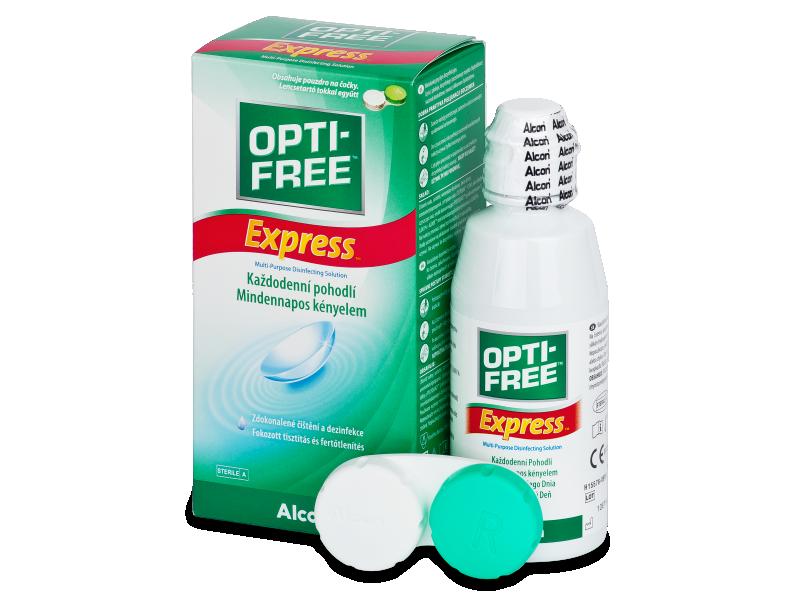 Разтвор OPTI-FREE Express 120ml с контейнерче  - Разтвор за почистване