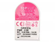 TopVue Color Daily - без диоптър (10лещи) - Преглед на блистер
