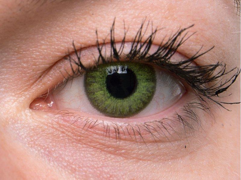 TopVue Color Daily - без диоптър (10лещи) - Fresh green on grey eye