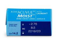 1 Day Acuvue Moist (30лещи) - Преглед на параметри