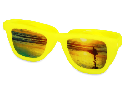 OptiShades контейнер за лещи- жълт