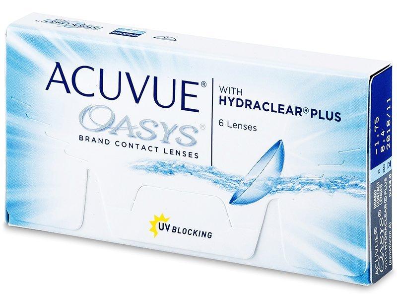 Двуседмични контактни лещи - Acuvue Oasys (6лещи)