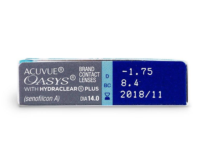 Acuvue Oasys (6лещи) - Преглед на параметри