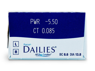 Focus Dailies All Day Comfort (30лещи) - Преглед на параметри