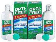 Разтвор за контактни лещи Opti-FREE - Разтвор OPTI-FREE Express 2x355 мл. с контейнерче