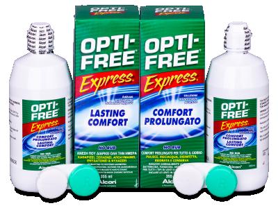 Разтвор OPTI-FREE Express 2x355 ml с контейнерче  - Economy duo pack- solution