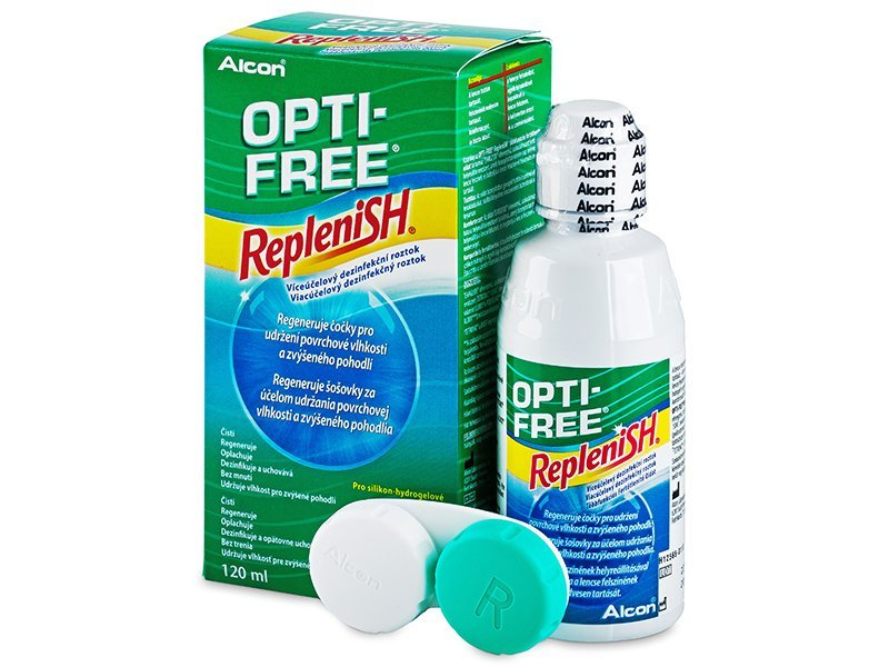 Разтвор OPTI-FREE RepleniSH 120ml  - Разтвор за почистване