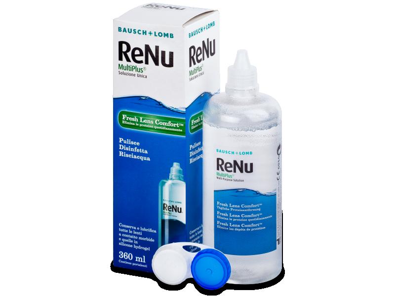 Разтвор ReNu MultiPlus 360ml с контейнерче  - Разтвор за почистване