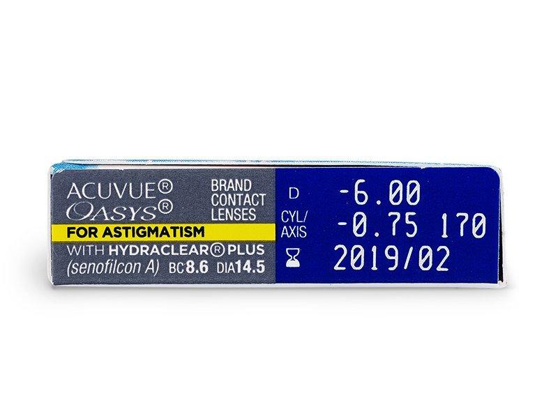 Преглед на параметри - Acuvue Oasys for Astigmatism (6лещи)