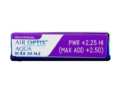 Air Optix Aqua Multifocal (3лещи) - Преглед на параметри