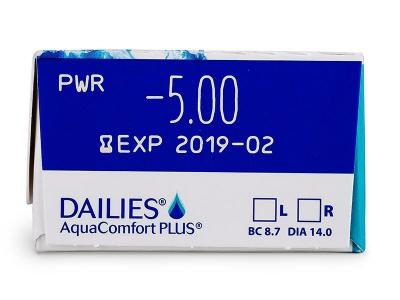 Преглед на параметри - Dailies AquaComfort Plus (30лещи)