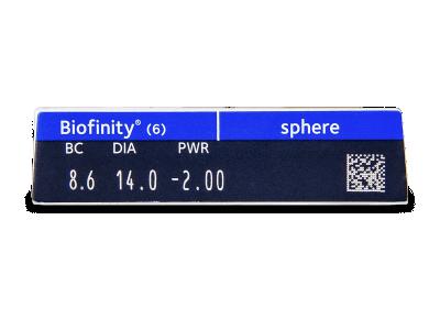 Biofinity (6лещи) - Преглед на параметри