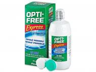 Разтвор за контактни лещи Opti-FREE - Разтвор OPTI-FREE Express 355 мл. с контейнерче