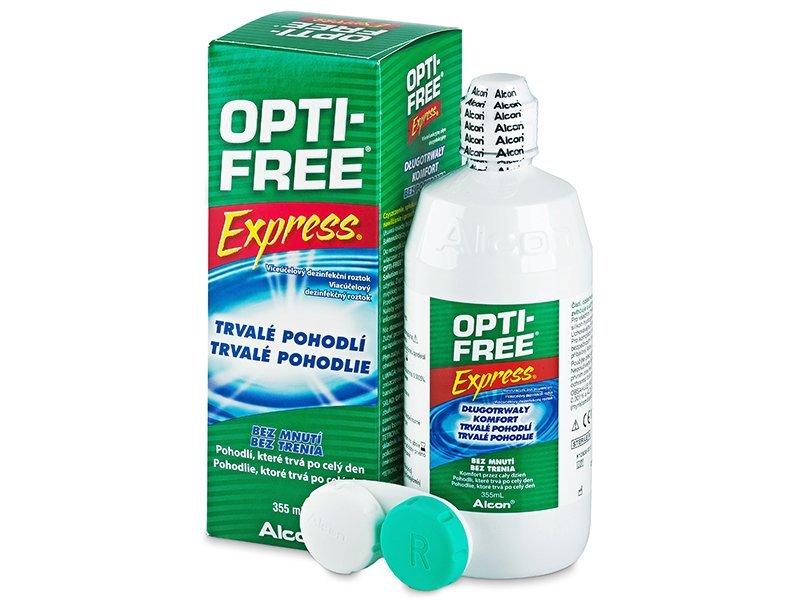 Разтвор OPTI-FREE Express 355 мл. с контейнерче  - Разтвор за почистване