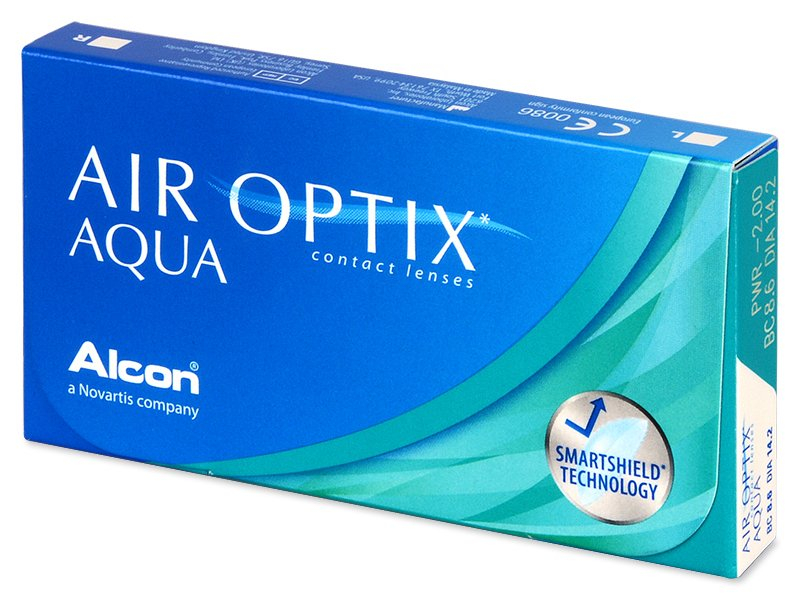 Air Optix Aqua (6лещи) - Месечни контактни лещи