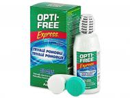 Разтвор за контактни лещи Opti-FREE - Разтвор OPTI-FREE Express 120мл с контейнерче