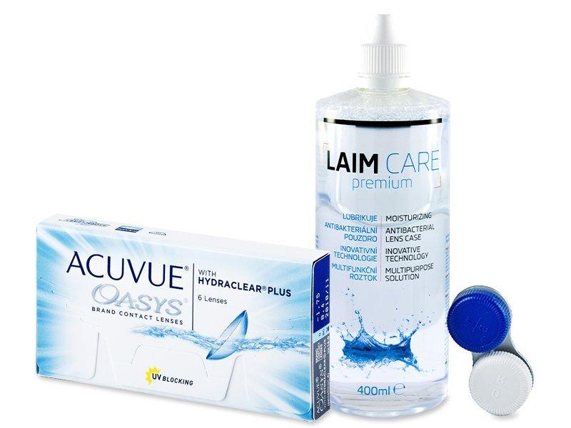 Acuvue Oasys (6лещи) + разтвор Laim-Care 400 мл - Пакет на оферта